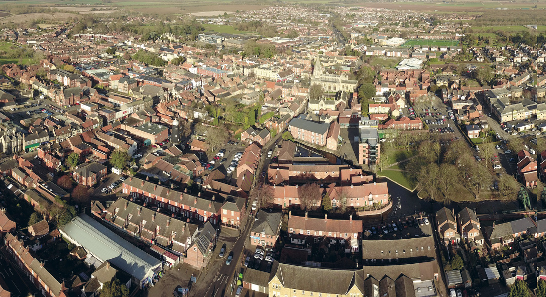 Sleaford from the sky