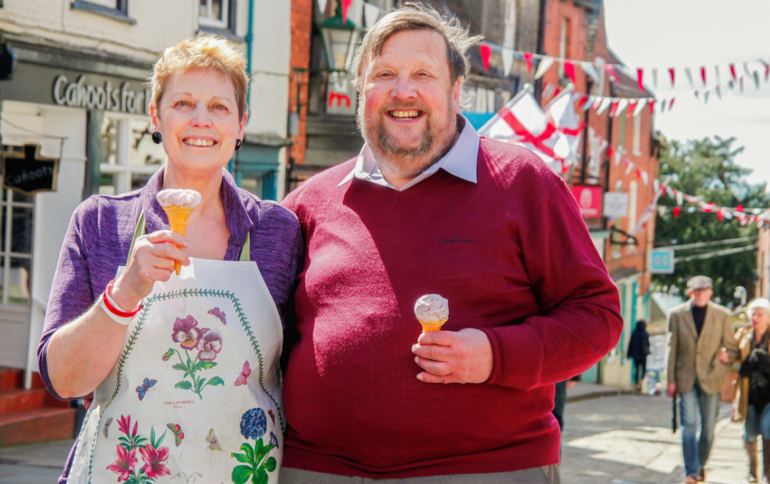 Robin and Clare Dennett, owners of the county's famous ice cream!