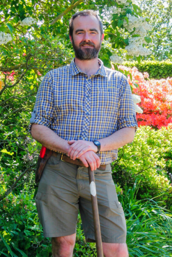 Head Gardener at Doddington, David Logan.