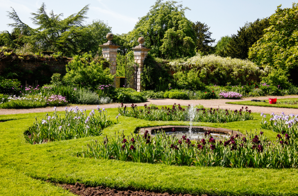 The beautiful gardens at Doddington Hall.