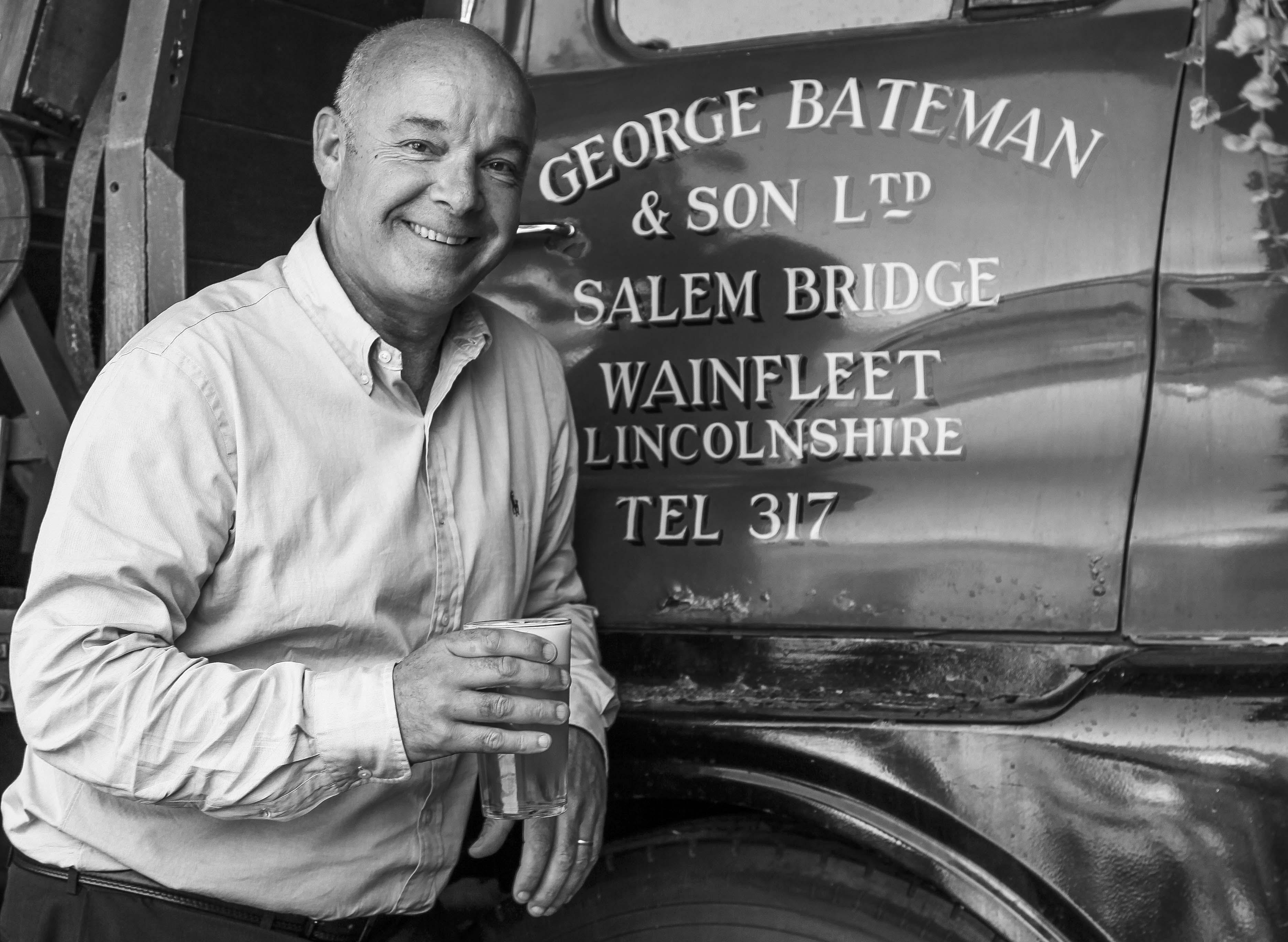 Stuart explains the heritage of his family's business at Salem Bridge, Wainfleet.