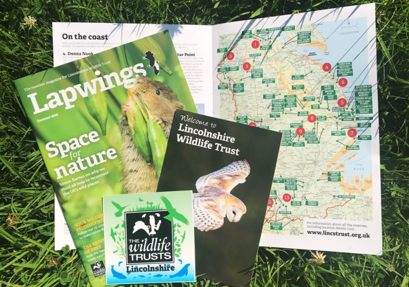 Lincolnshire Wildlife Trust Membership pack