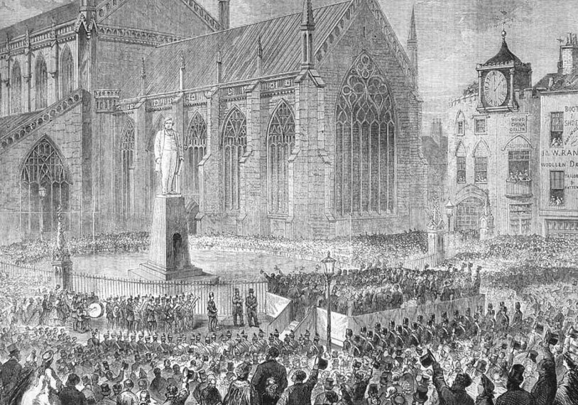 This is how the London Illustrated News reported the unveiling of Herbert Ingram's statue in Boston in 1862, proud that its founder draw a crowd to celebrate the life of the town's MP and philanthropist.