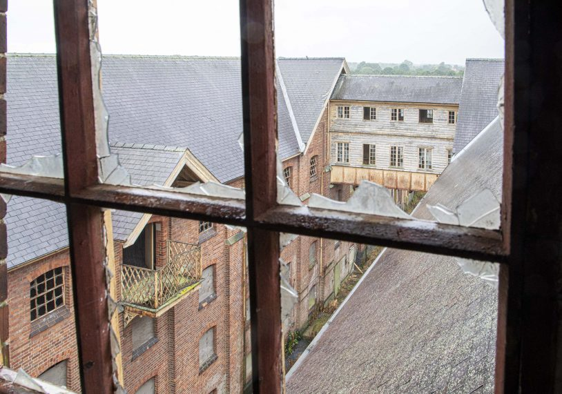 Inside the Bass Maltings. NB: We MUST repeat how dangerous the site is, with loose masonry, unsafe floors, open voids and trip hazards. With thanks to Aurora Training & Security Solutions (www.aurorasolutions.co.uk) who granted us supervised access; the site is NOT open to visitors and is alarmed and patrolled. Access is STRICTLY prohibited!