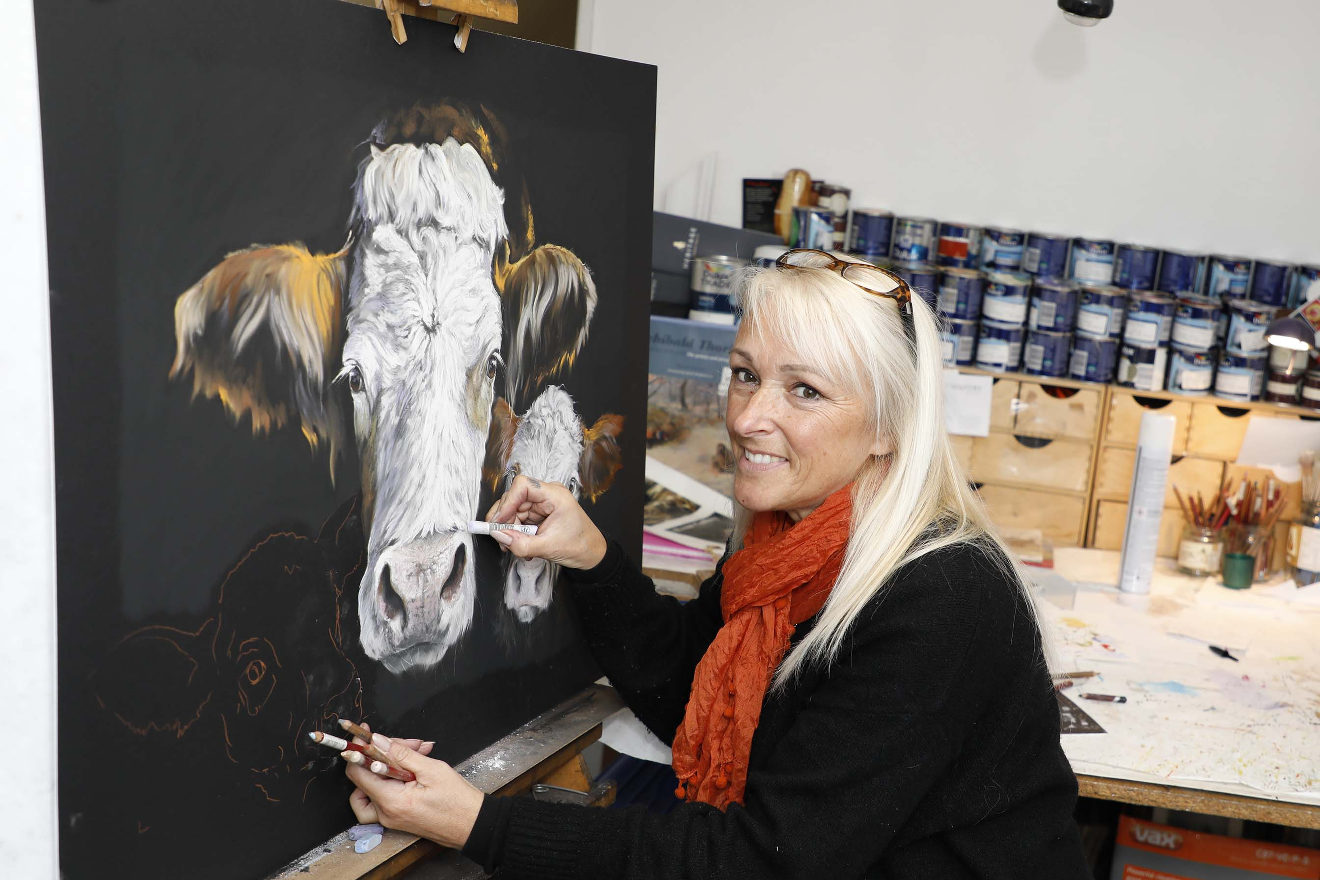 Kay Johns produces artwork which takes the local countryside as its inspiration.