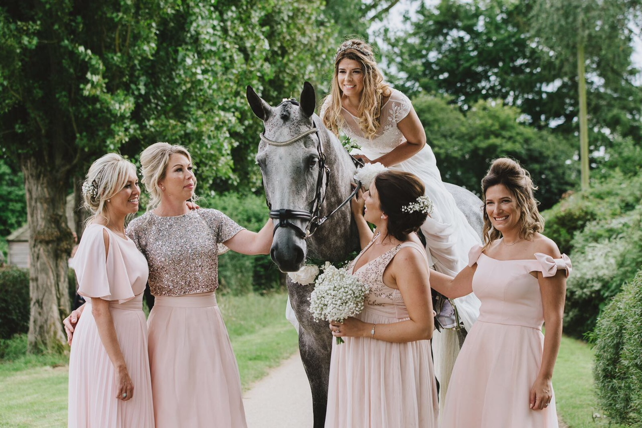 A Fabulous Country Wedding Featuring A Horse Stamford Pride