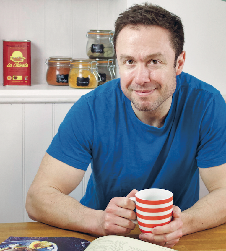 Simon Spooner in his kitchen at home.