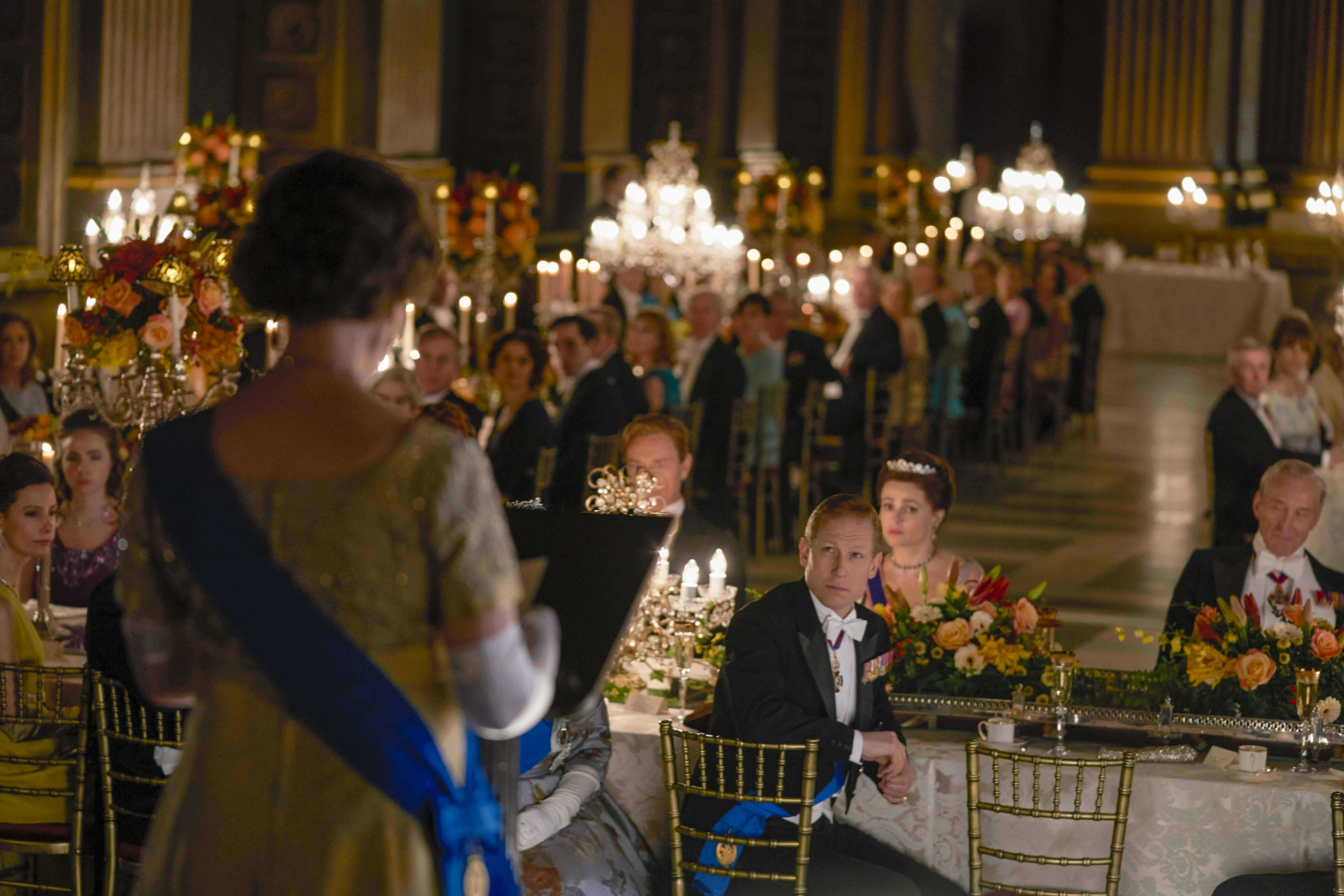 The Crown filmed in Burghley House's Heaven Room.