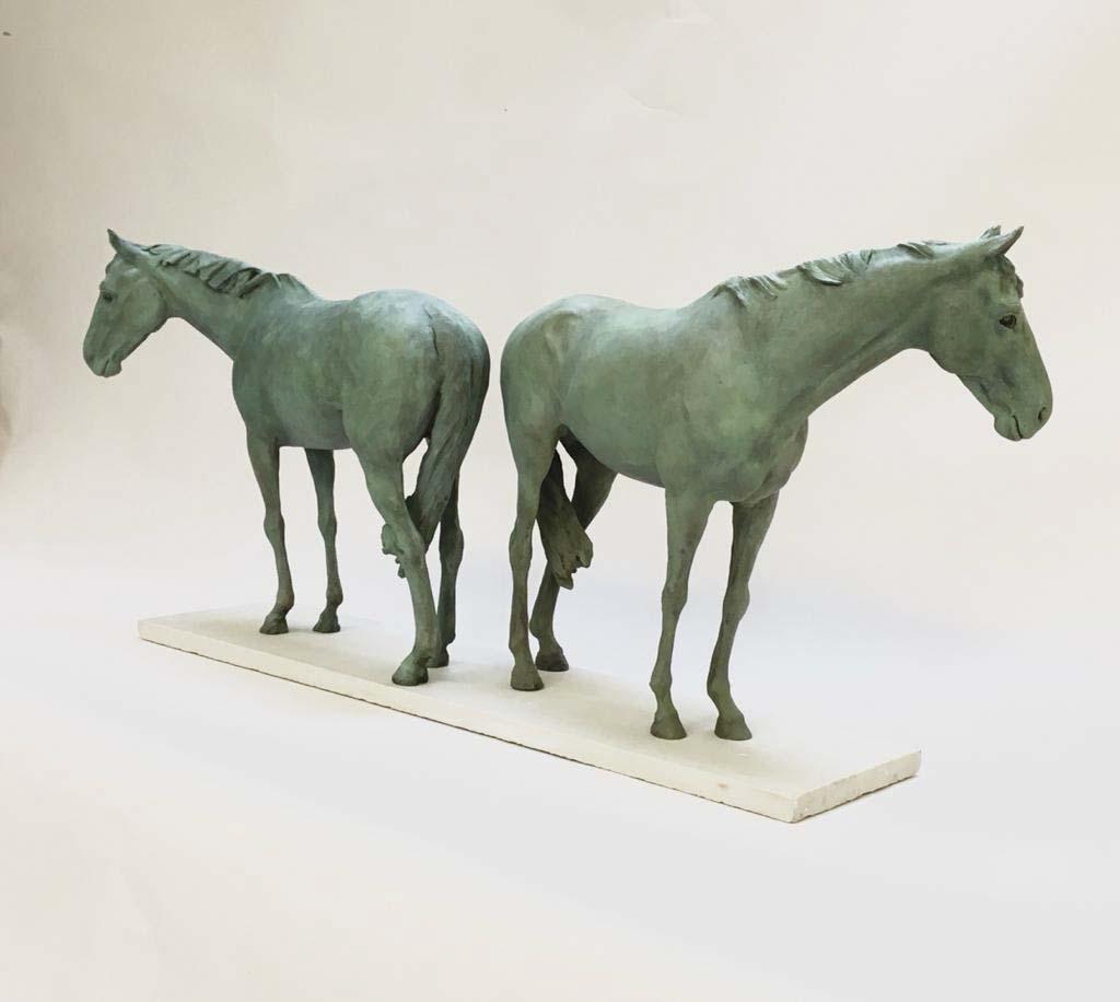 At Grass, Bronze Verdigris, 13.5″ x 35.5″ x 7″ £12,600.