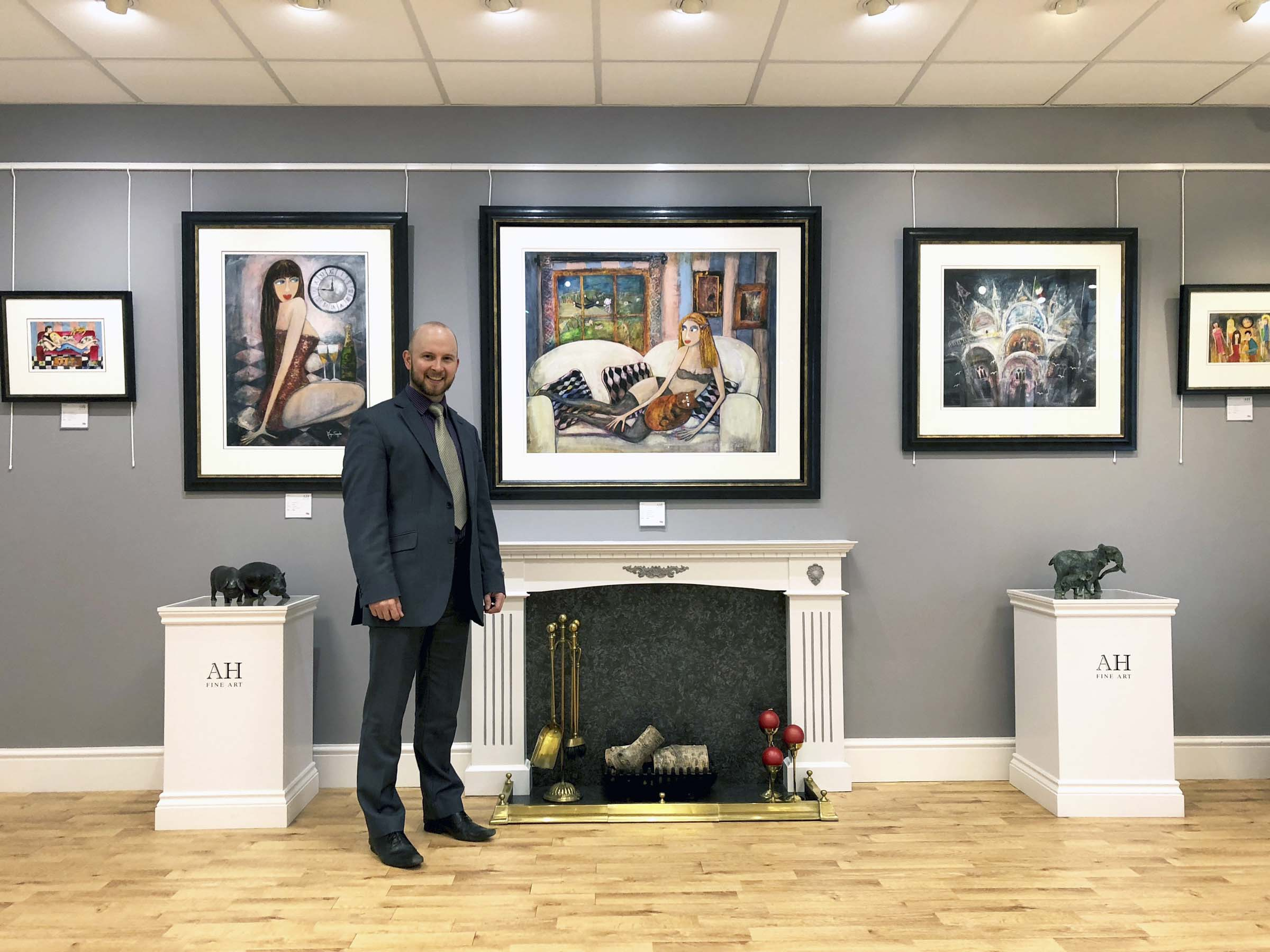 Gallery owner Adrian Hill